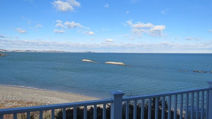 Hull MA vacation rental - View from the second floor deck.