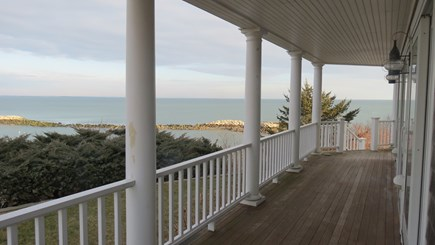 Hull MA vacation rental - First floor porch outside of living room and dining room.