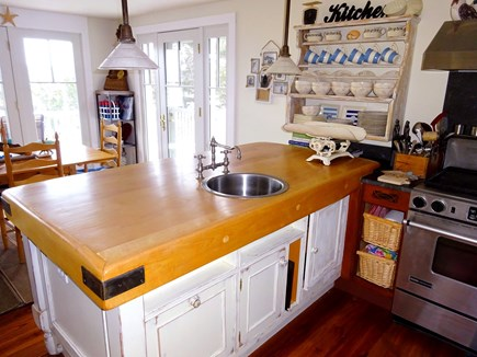 East Orleans Cape Cod vacation rental - Kitchen looking onto dining area.