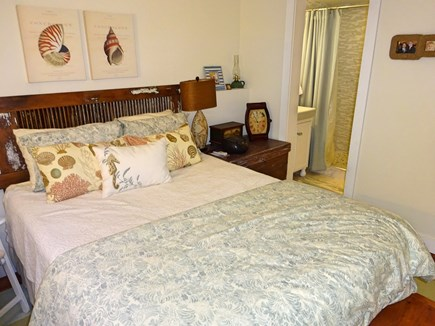 East Orleans Cape Cod vacation rental - Master bedroom with queen and attached full bath on lower level