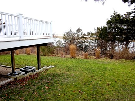 East Orleans Cape Cod vacation rental - Back yard with views of water.