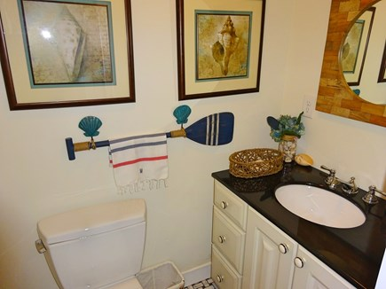 East Orleans Cape Cod vacation rental - Half bath off living room on the second level.
