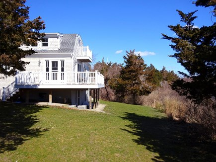 East Orleans Cape Cod vacation rental - View of back yard, balcony and deck