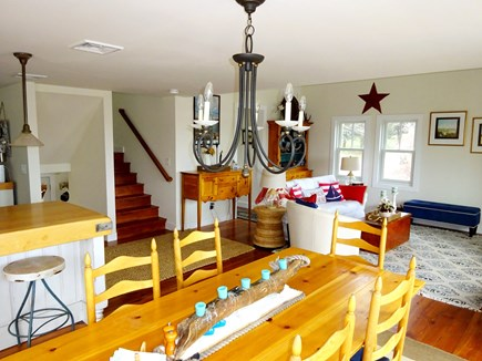 East Orleans Cape Cod vacation rental - Open living room, dining room and kitchen on the second level.