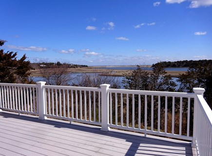 East Orleans Cape Cod vacation rental - Views off the back deck of Pochet Inlet looking out to the Ocean