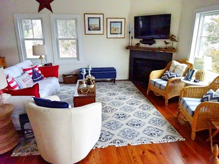 East Orleans Cape Cod vacation rental - Living area with flay screen TV