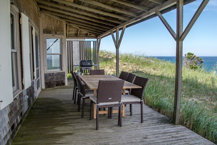 Truro Cape Cod vacation rental - New deck furniture/gas grill for those great meals on the deck!