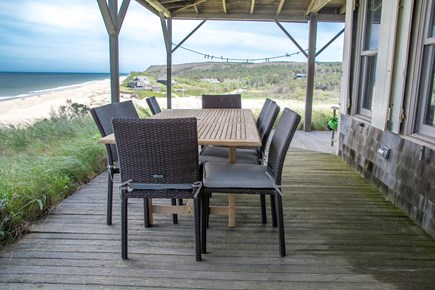 Truro Cape Cod vacation rental - Lots of seating for those outdoor meals w/ocean views!