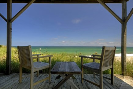 Truro Cape Cod vacation rental - Enjoy your morning coffee on this amazing wrap-around deck.