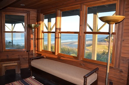 Truro Cape Cod vacation rental - The living room's expansive windows offer amazing views!