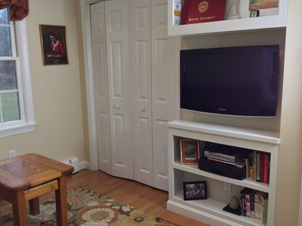 South Eastham 7 mins to Orlean Cape Cod vacation rental - Den has a full size sleep sofa, flatscreen TV & VCR