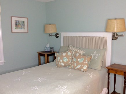 Eastham Cape Cod vacation rental - First floor guest bedroom with a large closet and ceiling fan