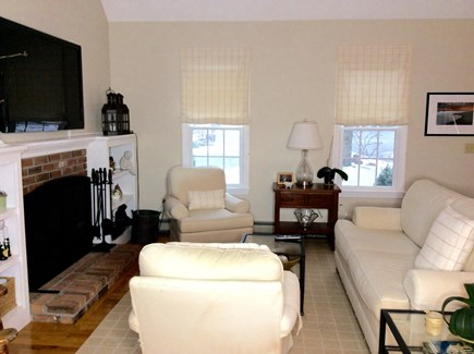 South Eastham 7 mins to Orlean Cape Cod vacation rental - First Floor level view of living room,which faces the front yard
