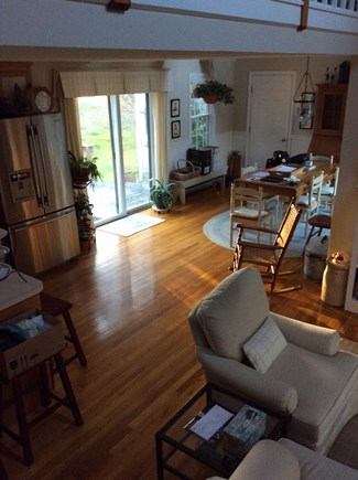 South Eastham 7 mins to Orlean Cape Cod vacation rental - Open floor plan with sliders to deck and gas grill