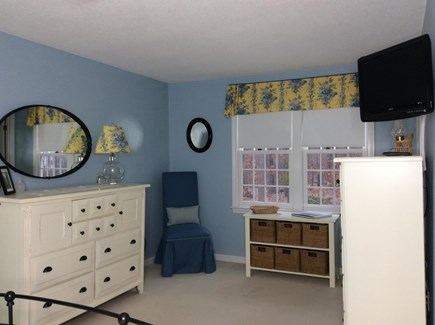 Eastham Cape Cod vacation rental - Master bedroom from bed looking out to yard