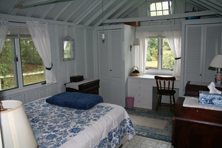 Pocasset, Wenaumet Bluffs Association Pocasset vacation rental - Master Bedroom with Queen bed and Ceiling Fan