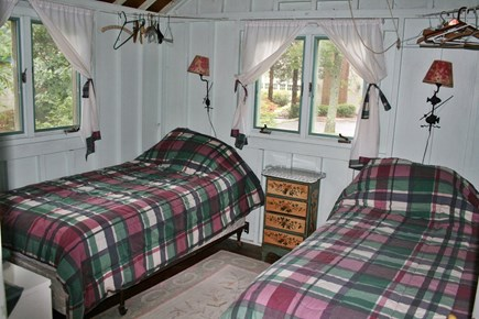 Pocasset, Wenaumet Bluffs Association Pocasset vacation rental - Guest Room 3 Twin beds that can be pushed together to make a King