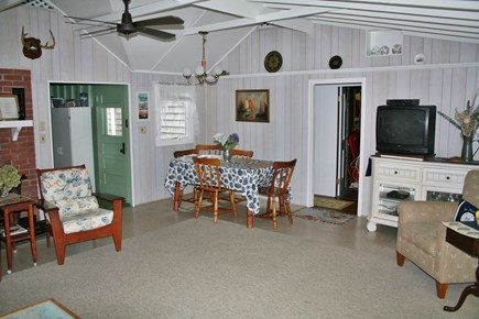 Pocasset, Wenaumet Bluffs Association Pocasset vacation rental - Living/Dining Area Includes Flat Screen Cable TV and WiFi