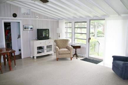Pocasset, Wenaumet Bluffs Association Pocasset vacation rental - Large Living Area with ceiling fan and air conditioner.