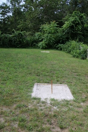 Brewster Cape Cod vacation rental - Horseshoe pits in backyard