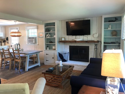 Brewster Cape Cod vacation rental - Open concept kitchen and living room