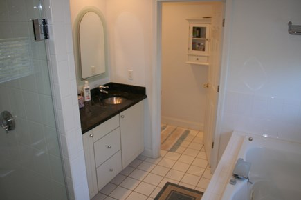 Brewster Cape Cod vacation rental - Master bath with shower and whirlpool tub