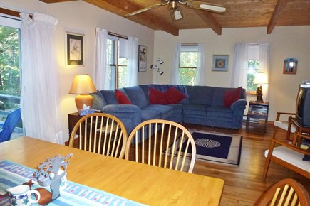 Wellfleet Cape Cod vacation rental - Large sunny living room with seating for a dozen