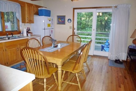 Wellfleet Cape Cod vacation rental - Fully equipped kitchen; table that opens to seat 10, light! view!