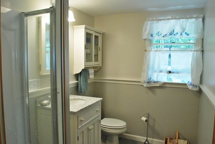 Wellfleet Cape Cod vacation rental - Beautifully remodeled/new downstairs bath with neo-angle shower