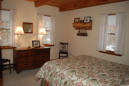 Wellfleet Cape Cod vacation rental - First floor bedroom:  light, breezy and comfy!