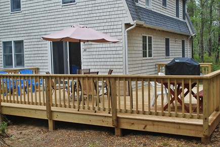 Wellfleet Cape Cod vacation rental - House and deck nestled on a cool, wooded lot