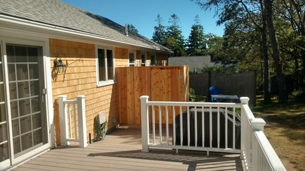 Harwich Cape Cod vacation rental - New Azek Deck with Gas Grill & Large Outdoor Shower