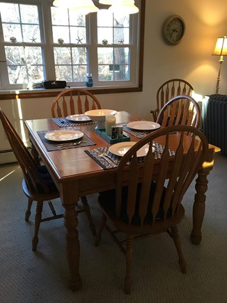 Harwich Cape Cod vacation rental - Dining Room seats 6 comfortably, sliders to back deck