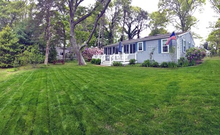 Pocasset Pocasset vacation rental - Spacious yard with small fire pit