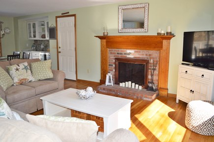 Dennis Cape Cod vacation rental - Family Room with large flat screen.