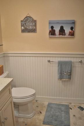 Dennis Cape Cod vacation rental - Main bath with shower/tub.