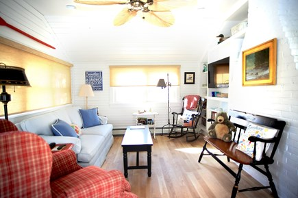 Dennis Cape Cod vacation rental - Charming sunroom with double sleep sofa if needed