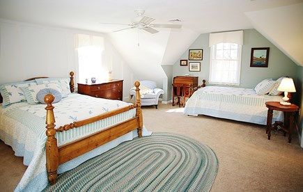 Dennis Cape Cod vacation rental - 2nd Floor Bedroom #4: Queen, twin plus roll-a-way twin
