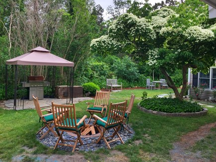 Dennis Cape Cod vacation rental - Fire pit, gas grill and wonderfully inviting outdoor spaces