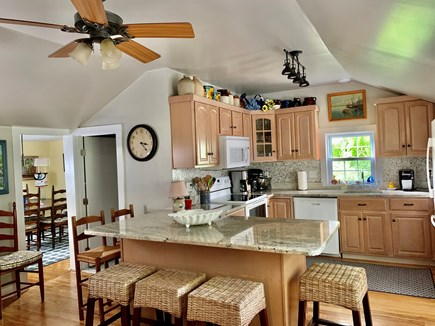 Dennis Cape Cod vacation rental - Fully equipped kitchen with seating for 6 at the granite counter.