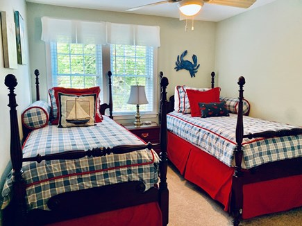 Dennis Cape Cod vacation rental - Second floor bedroom #3 with 2 twin beds.