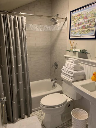 Dennis Cape Cod vacation rental - Remodeled first floor bath.