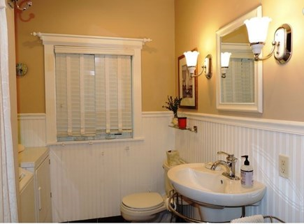 Harwich Port Cape Cod vacation rental - First floor full bath with laundry