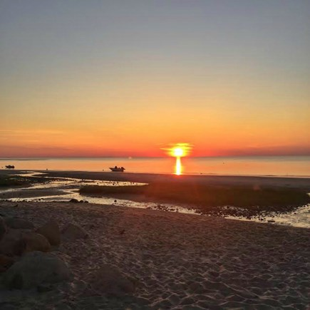 East Brewster Cape Cod vacation rental - Sunsets over the bay @ Crosby Landing and Skaket Beach, 1.5 miles