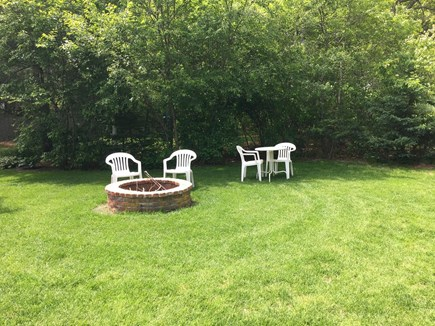 South Yarmouth Cape Cod vacation rental - Back yard with new fire pit