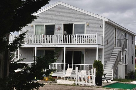 Provincetown Cape Cod vacation rental - Front of building, condo located lower level right