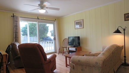 Provincetown Cape Cod vacation rental - Living room looking out to deck