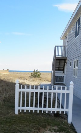 Provincetown Cape Cod vacation rental - View from side stairs