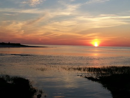 Brewster Cape Cod vacation rental - Sunset at Paines Creek