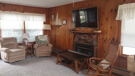 Brewster Cape Cod vacation rental - Living room, Flat screen, cable, WI-FI